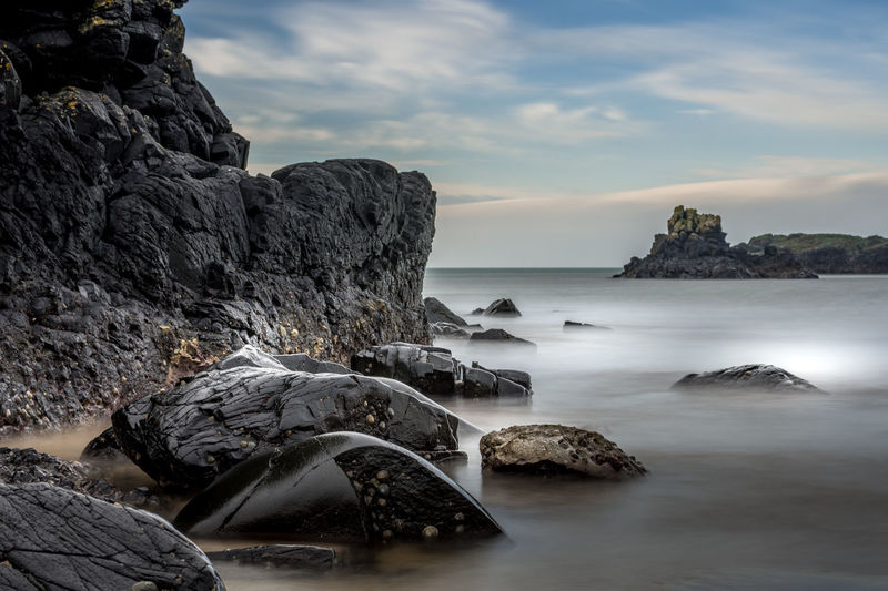 Soft sea Long exposure Northern Ireland Ballintoy Harbour Game Of Thrones Cliff Rock Formation Geology Rocky Coastline Rugged Seascape