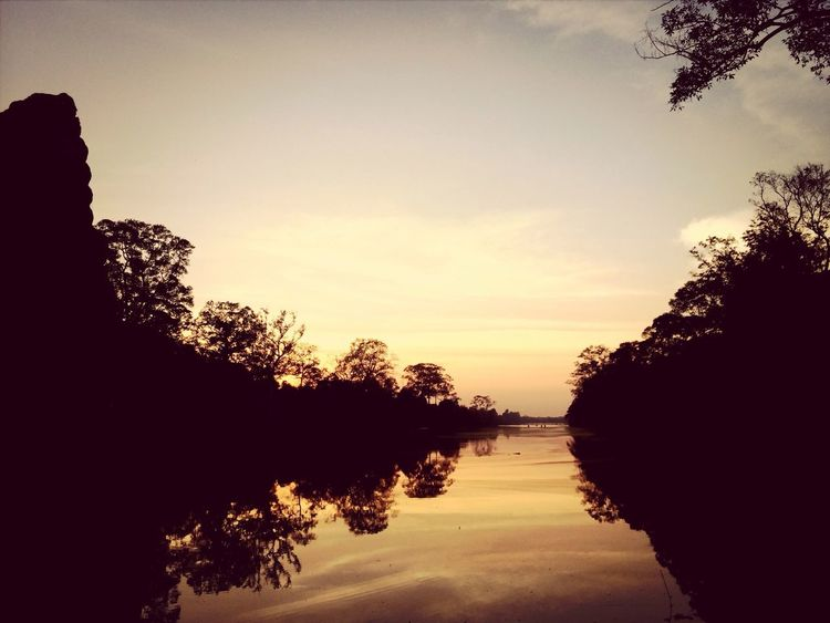 Sunset - Angkor wat Water_collection Sunset Landscape
