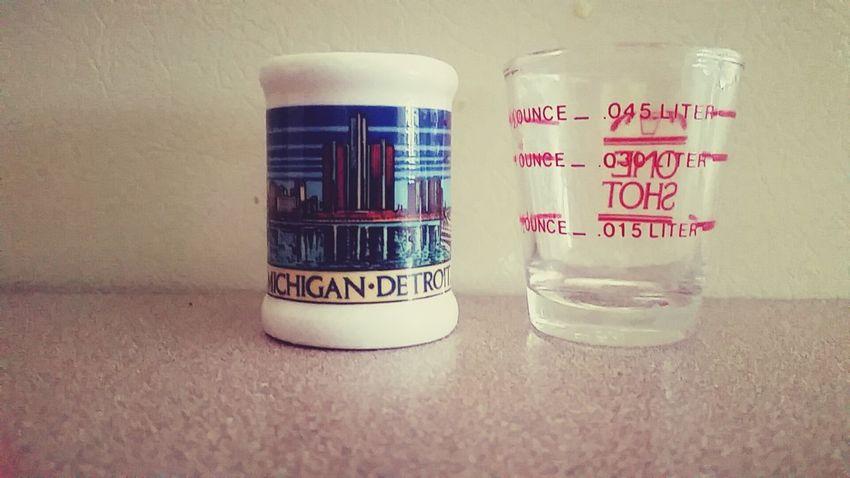 Shot Glasses Embers Cups Detroit Cool