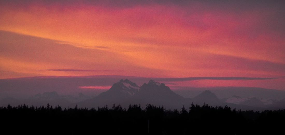 Mountain Silhouette Sunset Nature Landscape Tranquility Mountain Range No People Outdoors Beauty In Nature