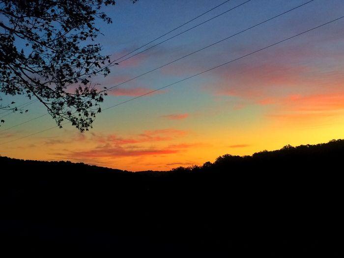 Sunrise Sunrise Sunrise_sunsets_aroundworld Sunrise_Collection Morning Morning Light Morning Sky Silhouette Nature Beauty In Nature Scenics Orange Color Tree No People Tranquil Scene Sky Tranquility Landscape Outdoors