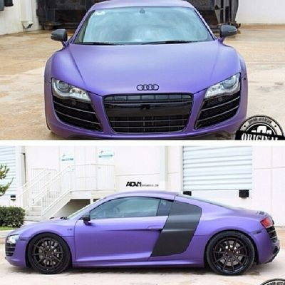 I want this so badly!!!! Purple Black Audi Beautiful love perfect