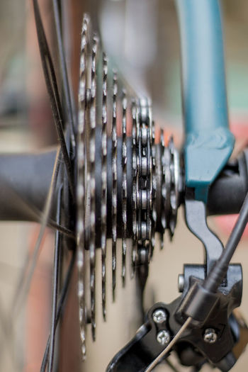 Close-up of bicycle spoke