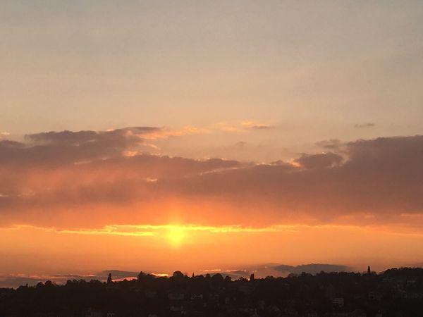 Parhelia Light Effect Scenics Sky Sunset Orange Color No People Warm Moment Warm Colors Evening Sky Evening Light Ogi Jovic Sun Dog Stuttgart