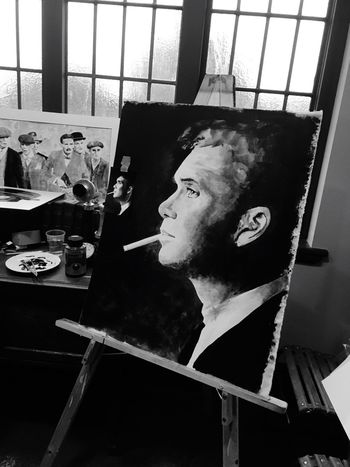 Real People Young Adult Painting Peaky Blinders Cillian Murphy