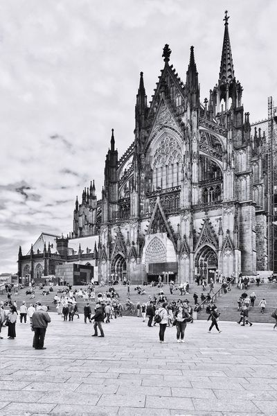 Cologne Germany Architecture Building Exterior Built Structure Building Sky Nature City Group Of People Outdoors Religion Day The Past History Spirituality Travel Destinations Street Real People Place Of Worship