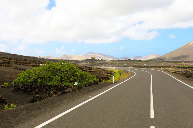 Vineyard in Lanzarote Lanzarote Road Beauty In Nature Day Landscape Mountain Nature Scenics - Nature Sky Street Streetphotography Tranquil Scene Tranquility Vineyard Wine Yaiza
