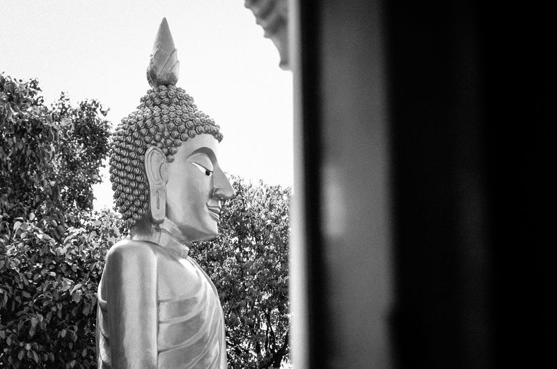 Representation Sculpture Human Representation Belief Statue Religion Art And Craft Day Spirituality Architecture Male Likeness Side View Built Structure Plant Place Of Worship Building Creativity Idol Beauty In Nature Bw Bw_collection BW_photography