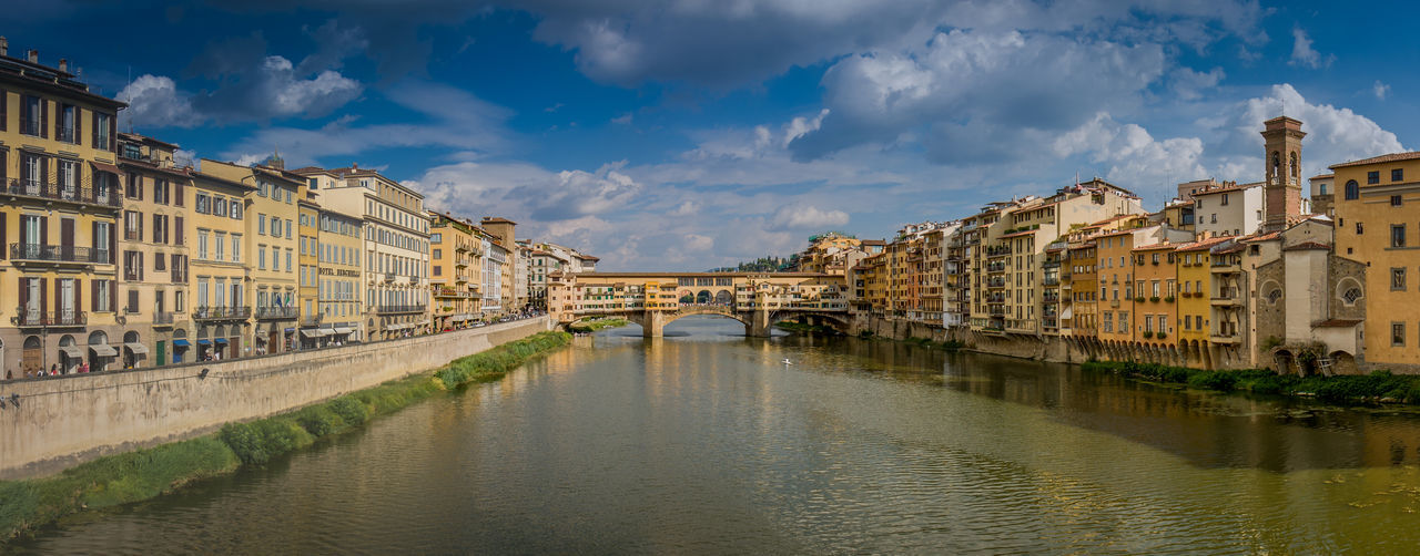 Architecture Building Exterior Built Structure City Cloud - Sky Day No People Outdoors Ponte Vecchio Sky Water