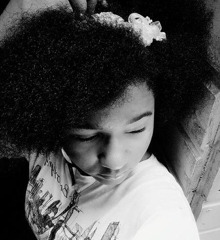 Beautifulandyounggirl Nohairdressing Lightmakeup Young... Selfie Black & White