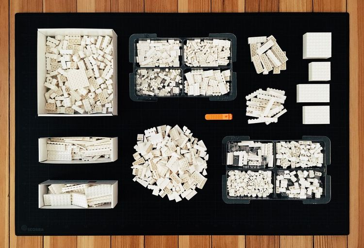 136 LEGO Lego Architecture Studio 21050 Architecture Close-up Large Group Of Objects Collection Ideas Arrangement Tray White Color Order The Color Of Business