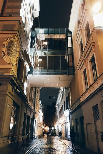 Riga Old Town Architecture Riga Riga Latvia Old Town Streetphotography Street Night Lights Reflections Rain Samsung Lithuanian