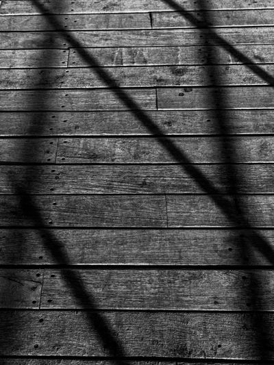 Backgrounds Blackandwhitephoto Bridge View Close-up Day Full Frame Hardwood Lines And Shapes Nature No People Outdoors Pattern Shadow Sunlight Textured  Timber Wood - Material Wood Grain Wood Paneling