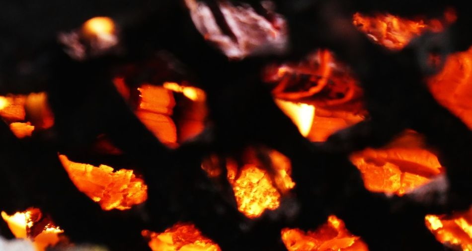 Burning Orange Color Fire Flame Heat - Temperature Fire - Natural Phenomenon Close-up No People Glowing Nature Motion Bonfire Wood - Material Firewood