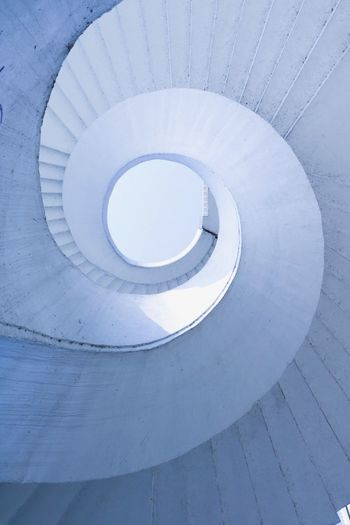 Stairs to heaven White Poland White Background Spiral Architecture Built Structure Spiral Staircase Steps And Staircases Pattern Staircase No People Shape Geometric Shape Circle White Color Design Day My Best Photo 17.62°
