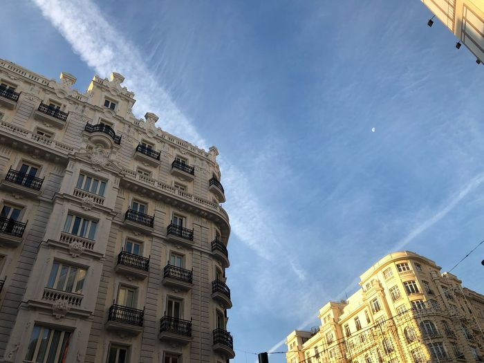 Granviamadrid Madrid Low Angle View Built Structure Building Exterior Architecture Sky Building Religion