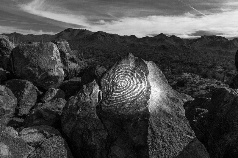 Arizona Petroglyphs Monochrome Landscape Nature Desert Rocks Landscapes Hohokam Signal Hill Picnic Area