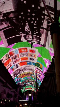 The Fremont Street Experience Light Show in Las Vegas where I'll be next week :) Art Arts Culture And Entertainment Backgrounds Color Color Explosion Colorful Colors Freemont Street Fremont Street Experience Large Group Of Objects Las Vegas Las Vegas NV LEDLights Light Show Multi Colored Night Lights Overhead Street Art Street Photography Streetphotography