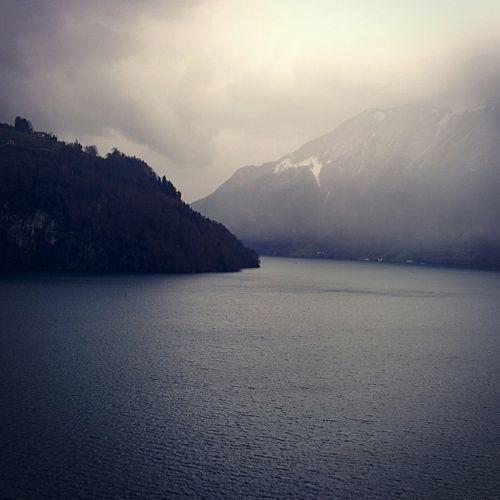 Mountains Uri Swiss Alps Lake View