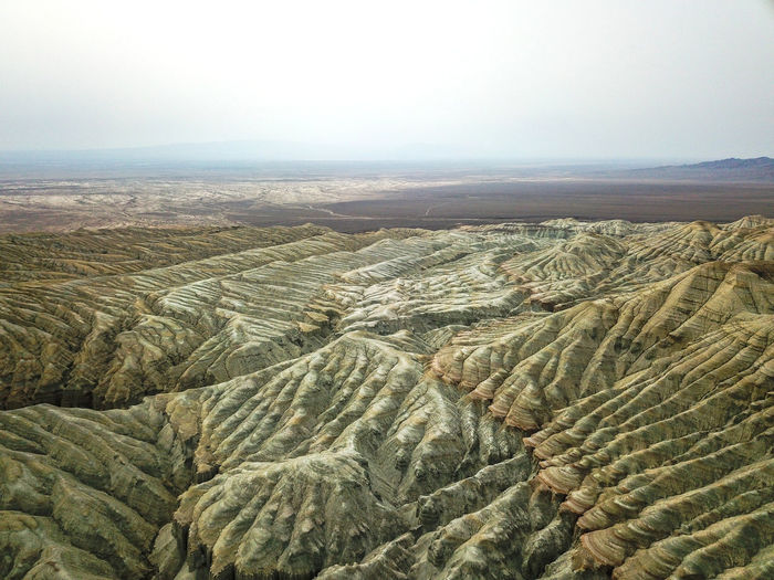 Scenics - Nature Landscape Environment Beauty In Nature Tranquil Scene Tranquility Non-urban Scene Land No People Nature Sky Desert Day Climate Remote High Angle View Mountain Arid Climate Physical Geography Idyllic Outdoors Rolling Landscape Eroded