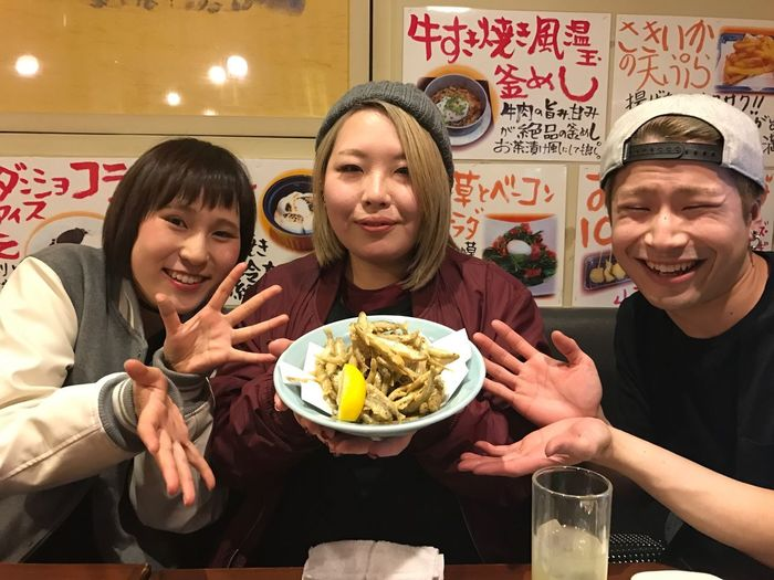 Eating Food Restaurant Plate Lifestyles Dinner Food And Drink Indoors  Friendship Meal Small Group Of People Unhealthy Eating Smiling Table Togetherness People Night Adult ワカサギ釣り Japan 岡田crew OpenEdit