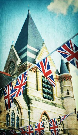 Taking Photos Flags Great Britain