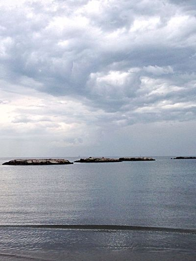 Landscape Sea And Sky Clouds Shades Of Grey