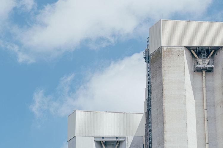 Detail view of concrete grain silo