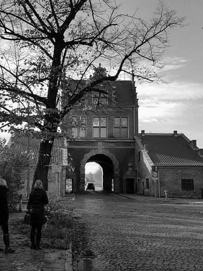 Tree Built Structure Architecture Outdoors Samsung Galaxy S7 Love To Take Photos ❤ Poland October Travel Destinations Gdansk (Danzig) Blackandwhite Blackandwhite Photography Whats On The Other Side Brick Building Another Brick In The Wall