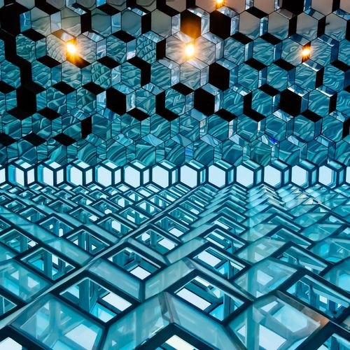 Modern beehive Minimalist Architecture Minimalism Lightblue Skyblue Comb Beehive Light Modern Architecture Urban Geometry Illuminated Pattern Full Frame Backgrounds Indoors  No People Modern Architecture Built_Structure AI Now The Week On EyeEm Editor's Picks