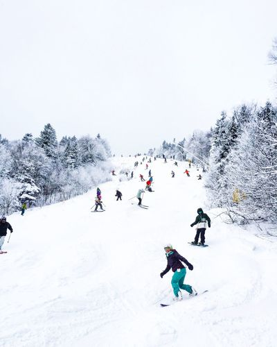 Snow Sports Skiing Snow Snowboarding Vermont Powder Crowd Winter Outdoors