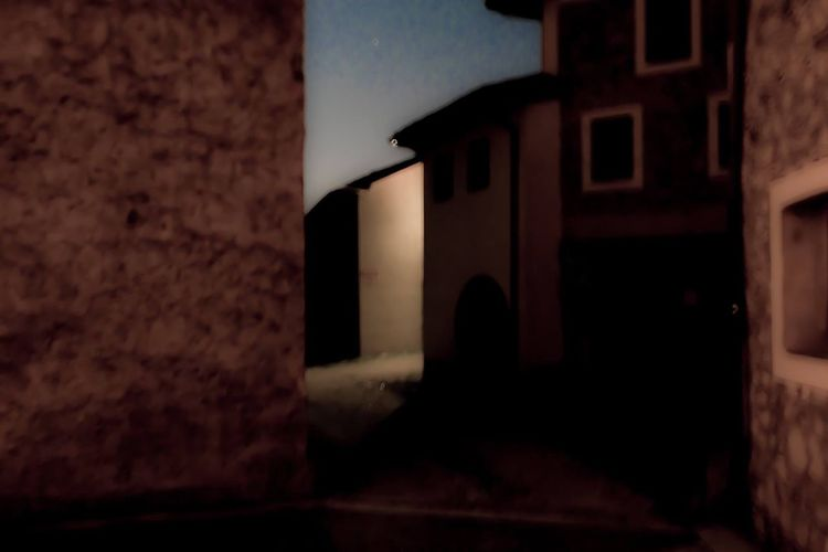 Architecture House Built Structure Rural Building Night Abstract