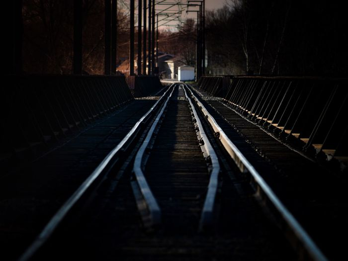The Way Forward Transportation Direction Tree Track Rail Transportation No People Built Structure Connection Railroad Track Nature Mode Of Transportation Plant Diminishing Perspective Architecture Metal vanishing point Outdoors Day Public Transportation