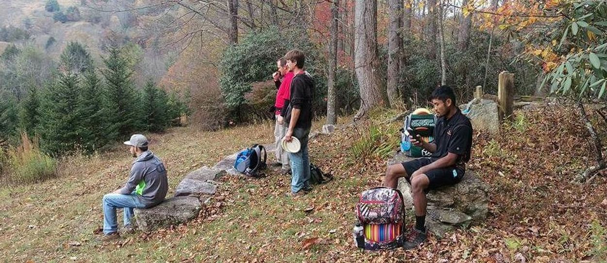 Discgolf Discgolf Player DiscGolfCourse Leisure Activity Mountains Nature Northcarolina Outdoors Vallecrucis