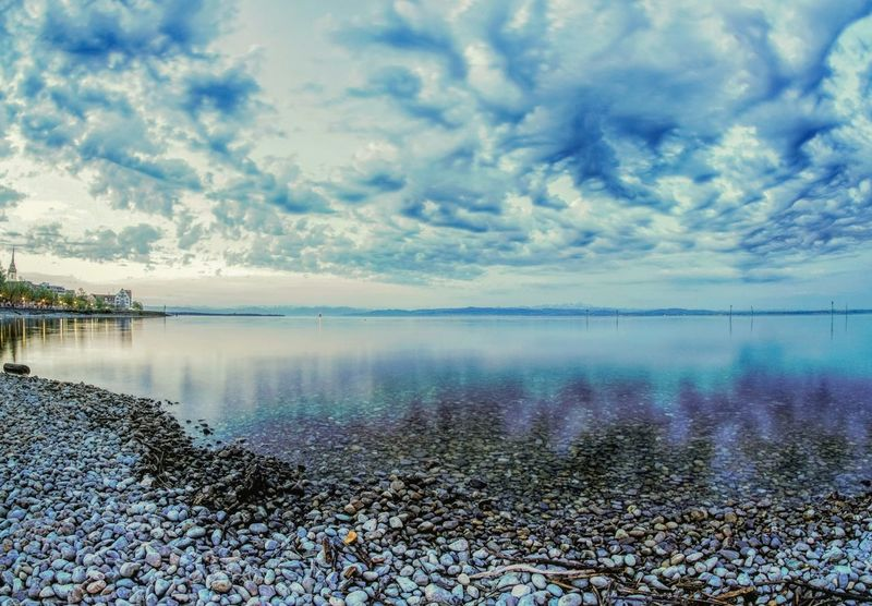 Water Sea Beach Reflection Sky Horizon Over Water Landscape Cloud - Sky Low Tide Dramatic Sky Seascape Coast Romantic Sky