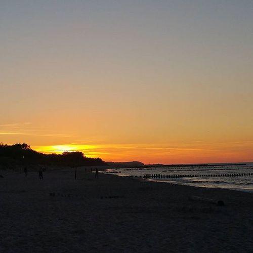 Sunset Balticsea Beachlife Horizon Beach Summer Evening Sea Go2Hel Chalupy