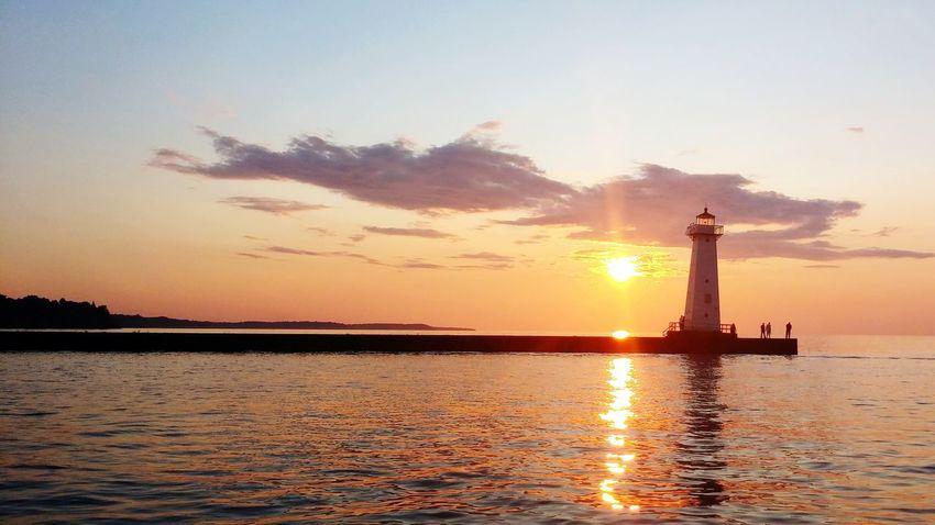 Eyeem Best Shots-sunset EyeEm Best Shots Lake Ontario Boatlife Sunsetreflections Water Reflections Lighthouse_captures Sunsetporn Landscape_Collection Summer2015