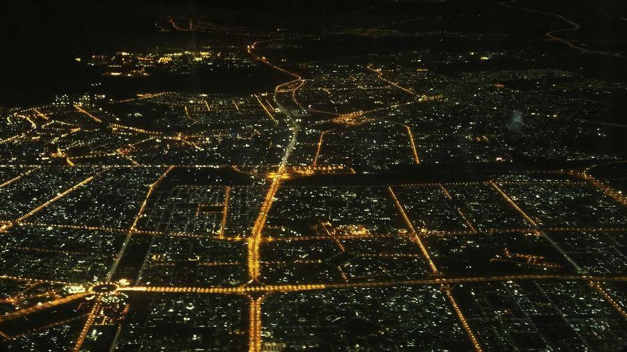 Dubai City Lights Night Lights Aerial View Night Ligths Night Landscape Birds Eye View
