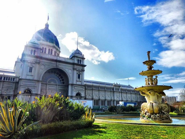 Melbourne City CarltonGardens Australia Beautiful Blue Sky