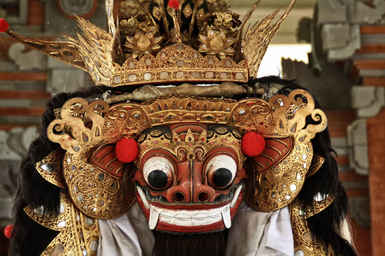 Animal Representation Art Art And Craft Bali Culture Barong Dance Mask Close-up Creativity Cultures Decoration EyeEm Gallery Figure Figurine  Focus On Foreground Human Representation Mask Ornate Religion Spirituality Tari Barong Tradition Traditional Dance Barong Dance