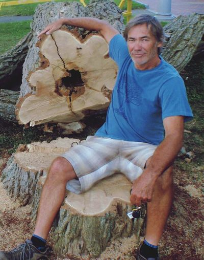 Hugging A Tree Fresh Cut Last Summer