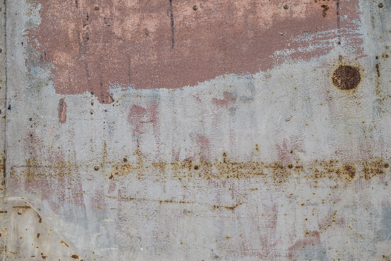 weathered, wall - building feature, old, textured, backgrounds, full frame, built structure, rusty, damaged, run-down, architecture, metal, no people, decline, deterioration, abandoned, bad condition, rough, day, obsolete, outdoors, dirty, concrete