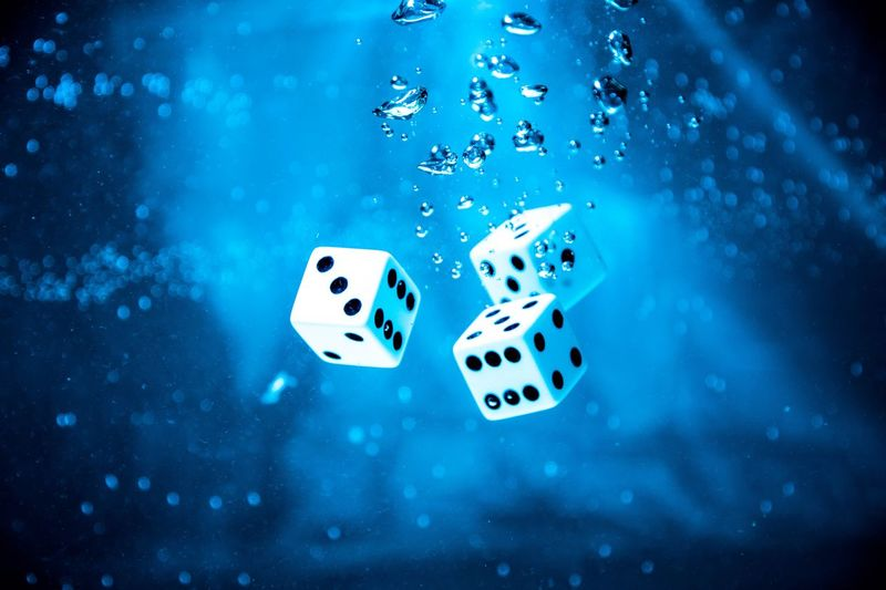 In the depths Product Shot Spotted Dice Gambling No People Chance Close-up Indoors  Water