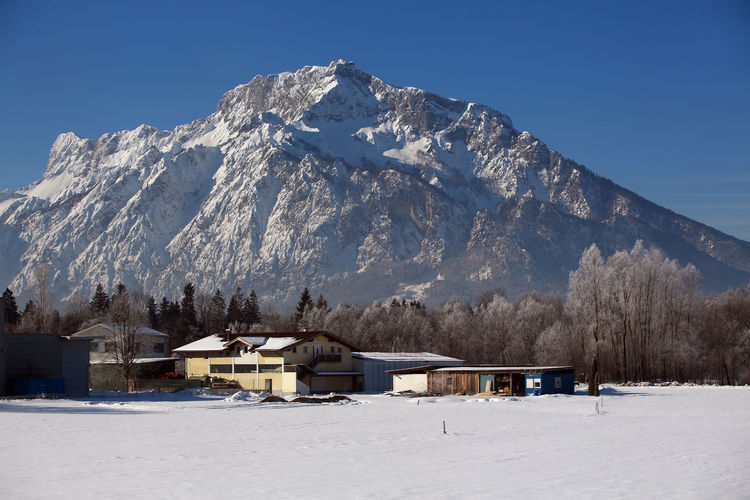 tennengebirge...i guest Beauty In Nature Architecture Cold Temperature Mountain Building Scenics - Nature Snow Winter Snowcapped Mountain Tranquility Mountain Range Outdoors No People Mountain Peak Tranquil Scene Building Exterior Cottage Sky House Nature Alpine Landscape Austria Tennengebirge