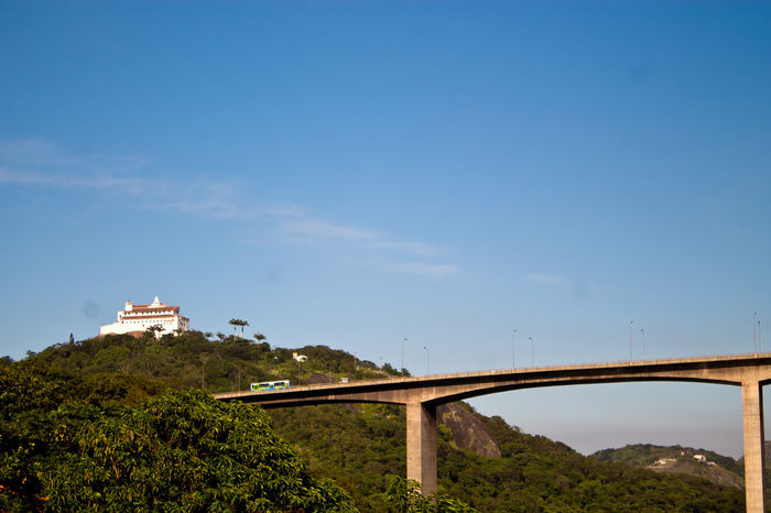 Blue Bridge Built Structure Church Convento Day Green Green Color Hill Mountain Outdoors Plant Sky