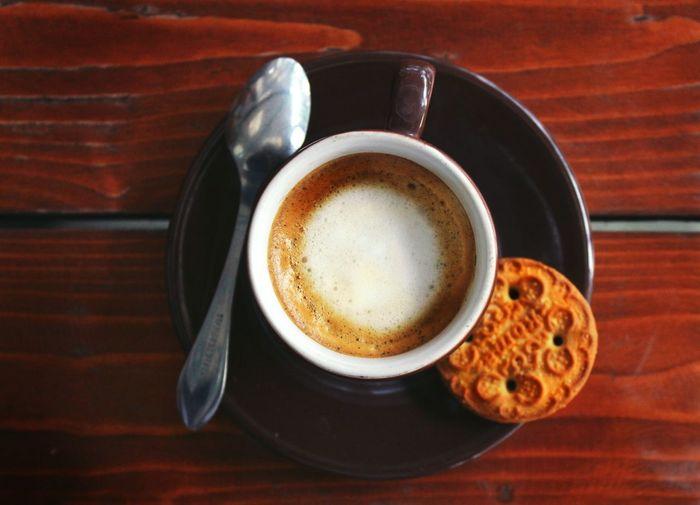 Coffee - Drink Coffee Break Indoors  Machiatto Close-up Cafe