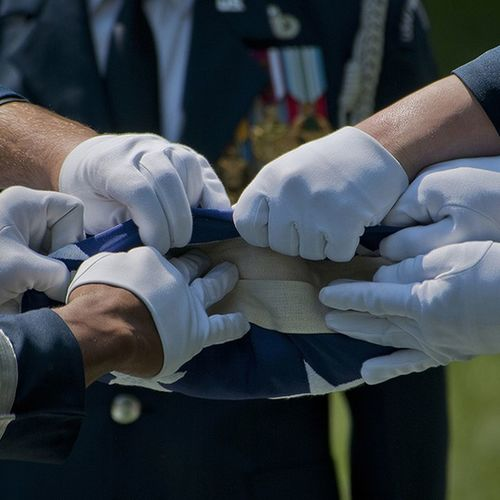 Favorite Photos I have taken: Airmen from the USAF Honor Guard fold an American Flag during a full Honors funeral. USAF Arlington  Flag HonorGuard military