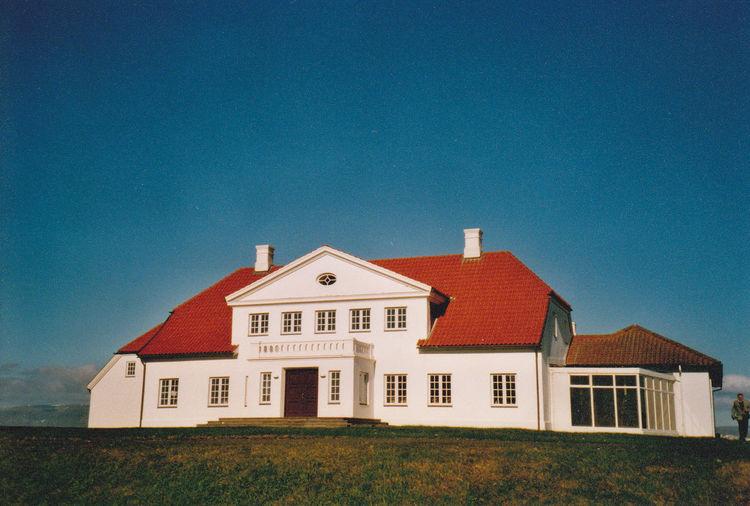 Bessastaðir, the official residence of the President of Iceland, not far from Reykjavik. Bessastaðir Building Exterior House Iceland No People Outdoors Presidential Palace Simplicity álftanes