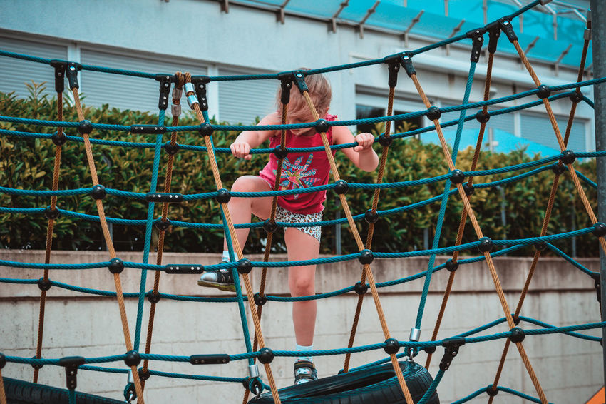 Childhood Girls Playground Children Only Jungle Gym Child People Full Length One Person Fun Playing Outdoors Net - Sports Equipment Day Outdoor Play Equipment Sport One Girl Only Smiling Competition Adult The Week On EyeEm Be. Ready.