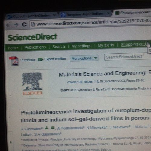 Odio a ScienceDirect todos los documento que necesito para investigación se encuentra ahí, pero tengo que pagar para verla :// Teodio ScienceDirect Investigación